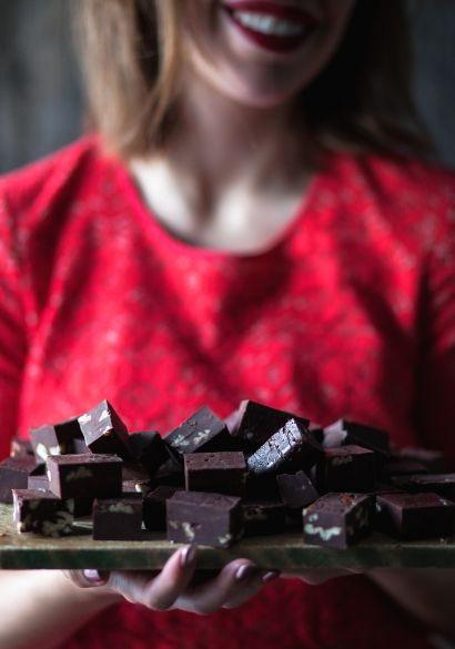 fudge au chocolat.