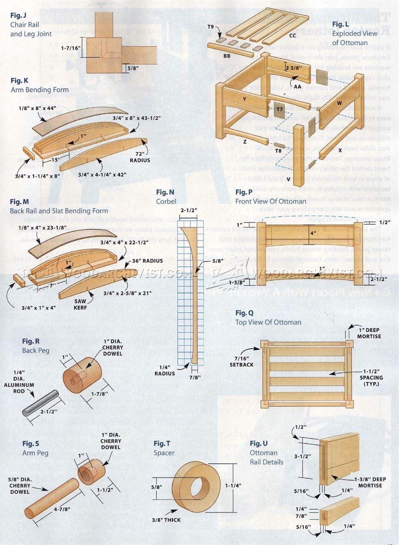 Morris Chair Plans Morris Chair Chair And Ottoman Chair