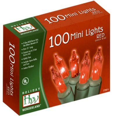 Noma 400388 HW 100CT RED Light Set Pack of 6 * Want additional info