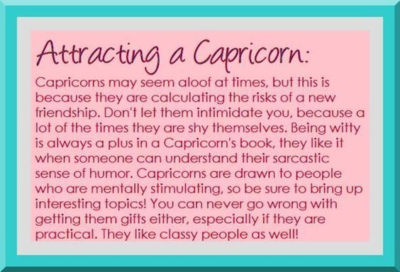 Love matches for capricorn