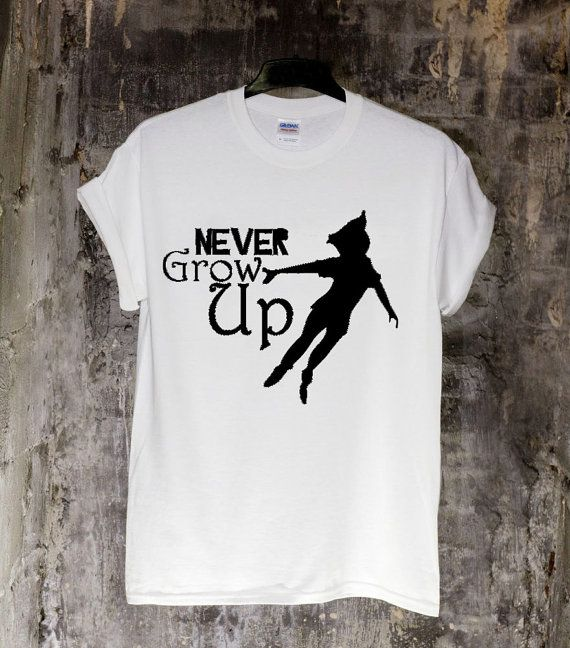 Superb Peter Pan Never Grow Up Quote T Shirt Design For By InsertTshirt, $18.00