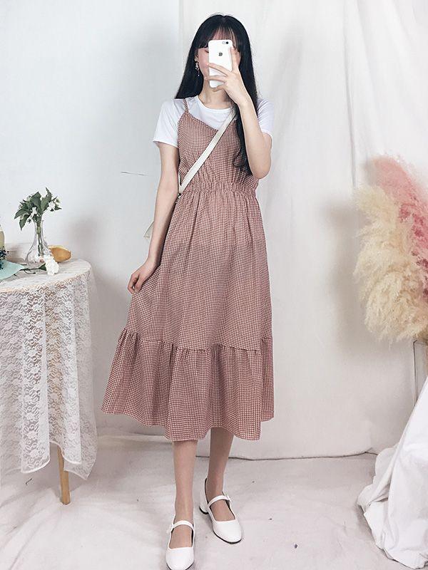 ピクニックロングワンピース set ops811 韓国ファッション通販 girls rule ガールズルール ファッション 韓国 ワンピース 韓国 ファッション ワンピース