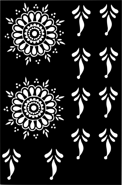 Variety Henna Temporary Tattoo Glitter Stencil Sticker Body Art Face Paint Airbrush Decal Template Meh Henna Stencils Henna Tattoo Stencils Temporary Tattoo