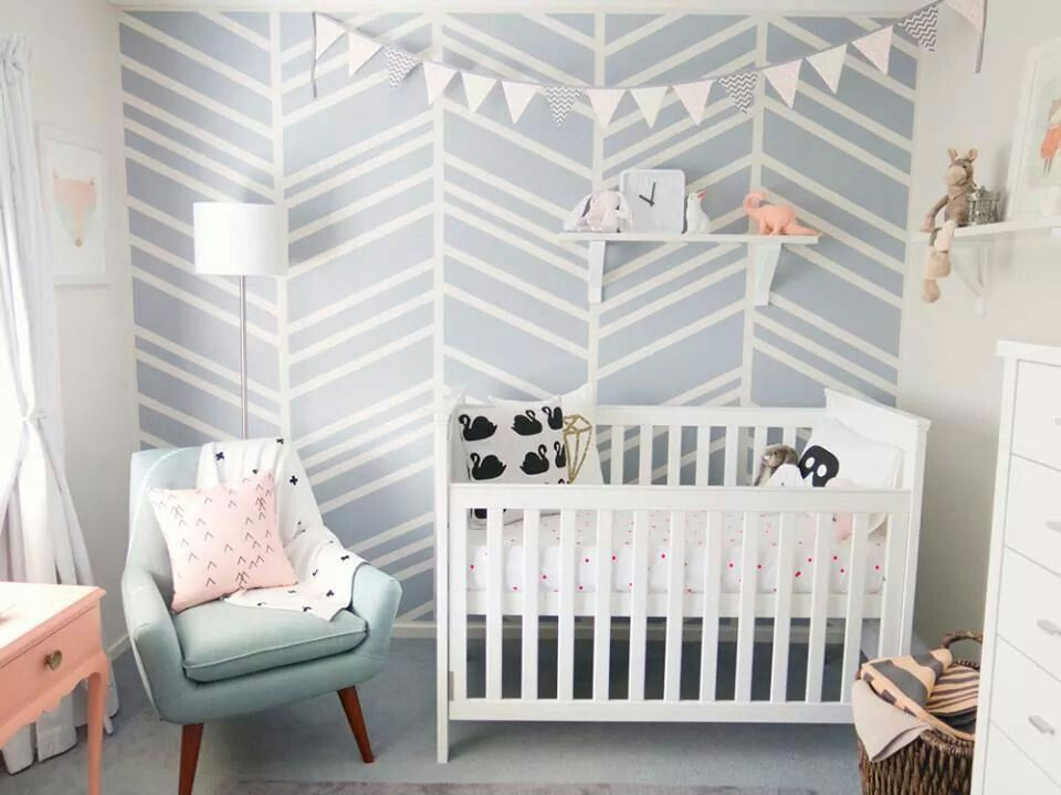 Muted Colour Palette For A Nursery Via Ann Marie Espinoza