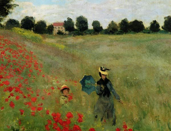 The Poppy Field Monet Art Artist Monet Claude Monet