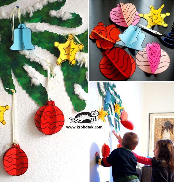 FREE Printable DIY Christmas Tree Ornament Templates (for School Decoration)  | Krokotak