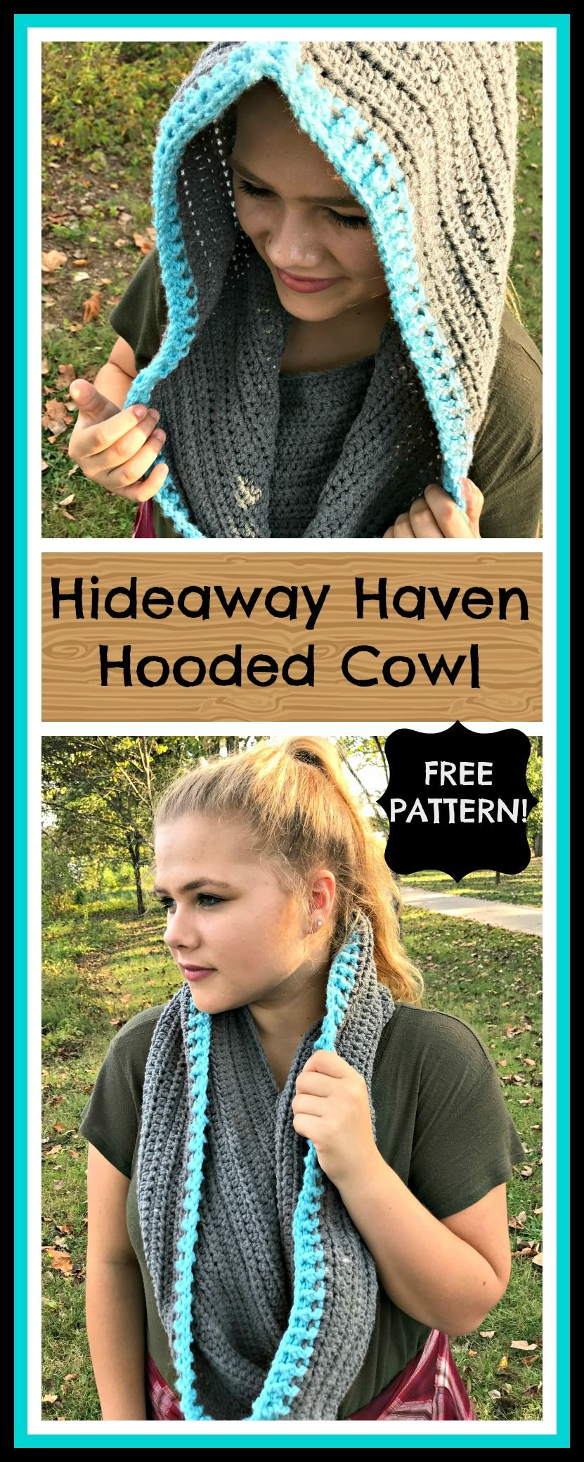 I love how this is a cute cowl AND a hood! Free crochet pattern ...