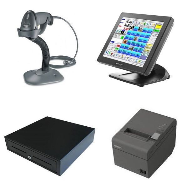 Posiflex Ps 3315 Pos System Bundle With Barcode Scanner Pos Supermarket Design Kids Grocery Store