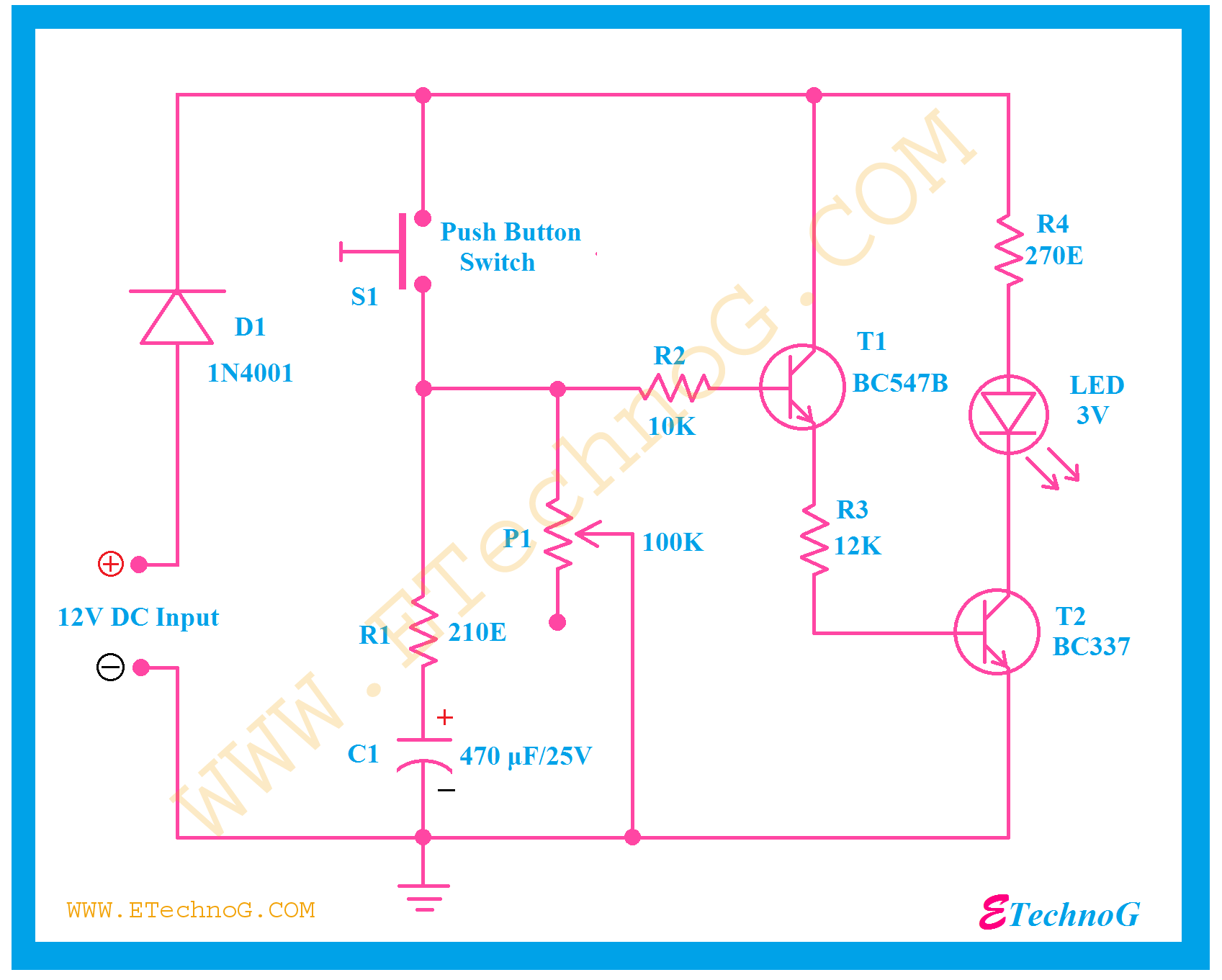Timer Switch Circuit Diagram For Light