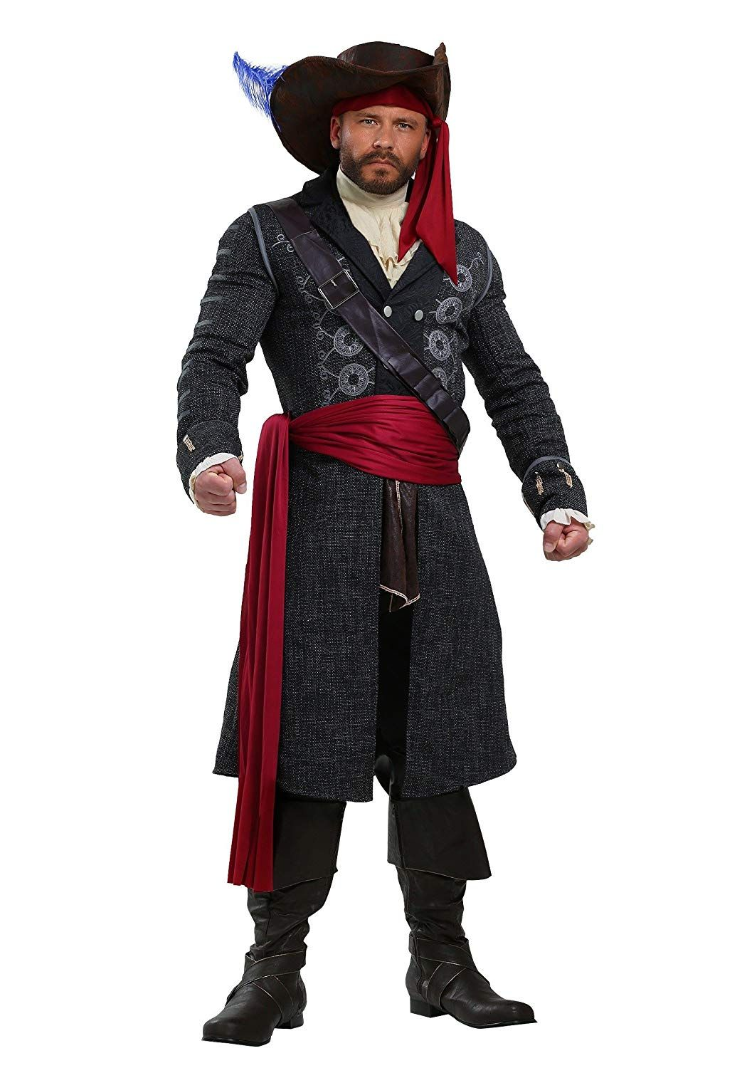 Blackbeard Plus Size Mens Fancy Dress Costume 5X