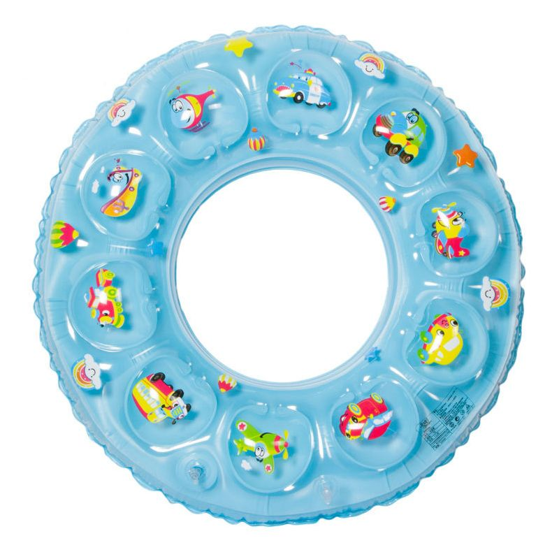 Click to Buy << Rubber Ring Crystal Inflatabl Lap Swimming Double ...