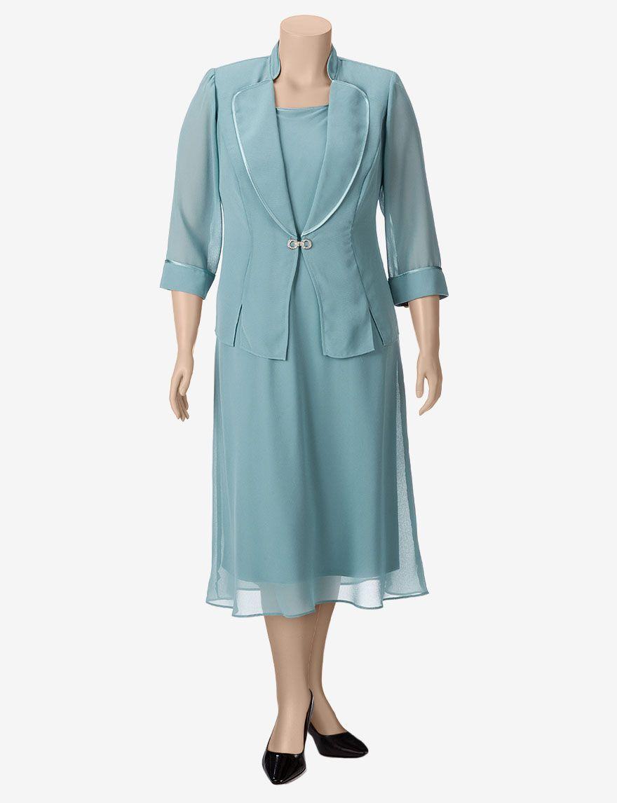 Dana Kay 2-pc. Blue Chiffon Jacket & Dress Set – Plus-sizes ...