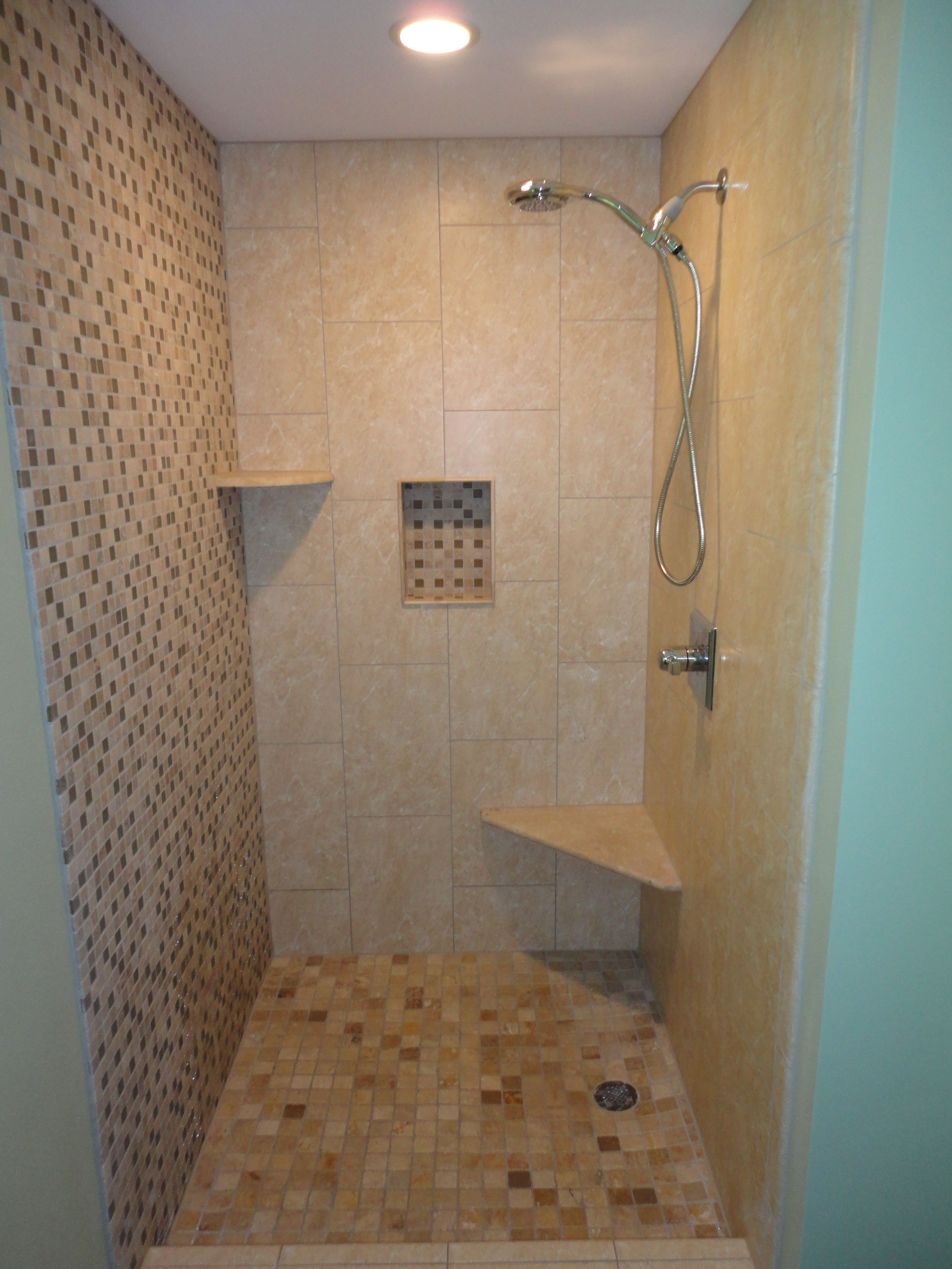 A view of the whole shower shows how all the pieces came together ...