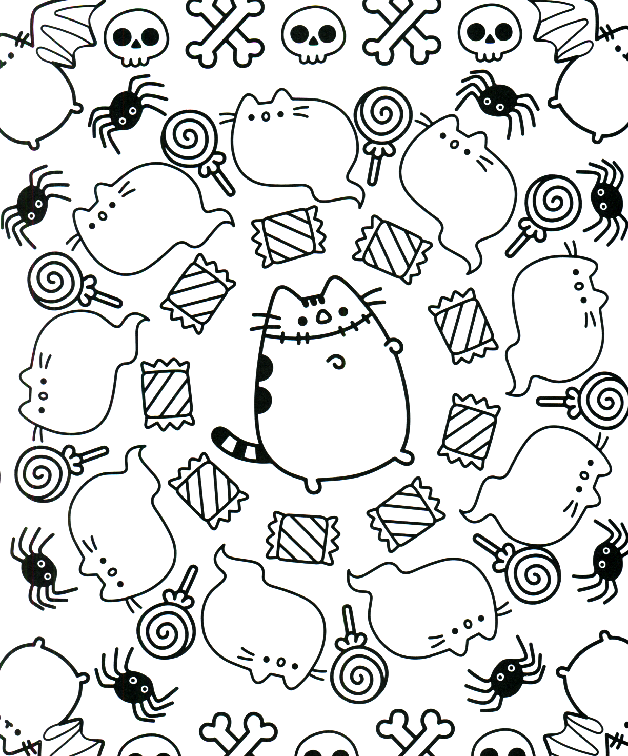 Pusheen Coloring Book Pusheen Pusheen The Cat Pusheen Coloring Pages Cute Coloring Pages Coloring Books