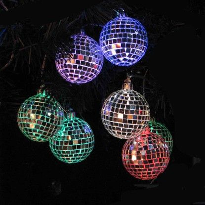 Kurt Adler Color Changing Led Mirrored Ball Christmas Lights Ul1877m Holiday Lights Color Changing Led Novelty Lights