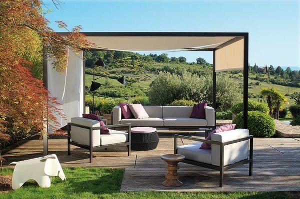 Wunderbar Coole Idee Sofa Und Relax Liege Im Garten überdachung