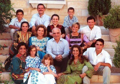 queen noor & her children & step-children | Royalty= 1950-present