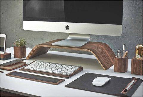 Desk collection par grovemade le bureau en bois moderne et