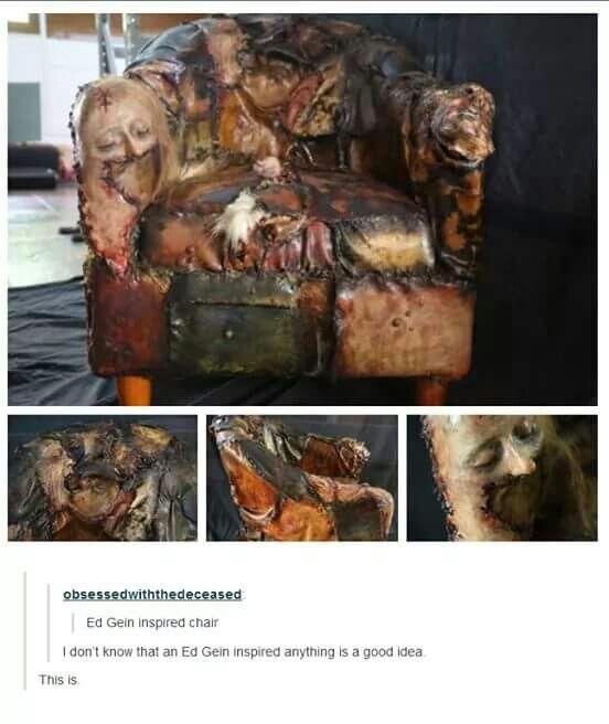 Ed Gein skin chair | Must Haves | Pinterest