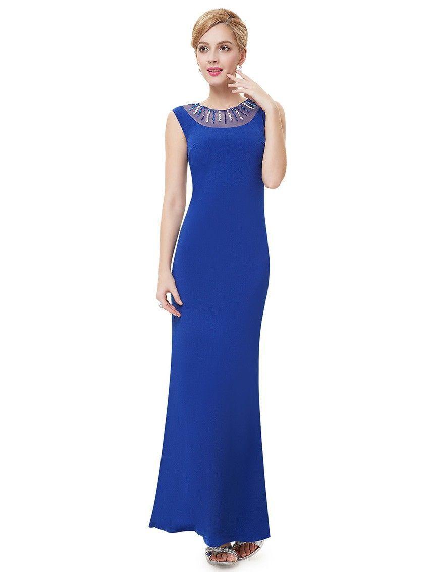 Abendmode / Blaues Enges Abendkleid Online  Abendkleid, Mode und