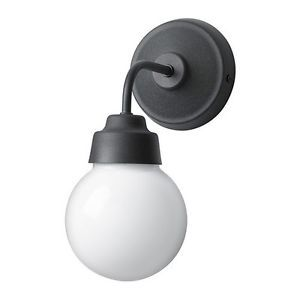 details zu ikea vitem lla wandleuchte aus metall und glas badezimmer beleuchtung lampe bad. Black Bedroom Furniture Sets. Home Design Ideas