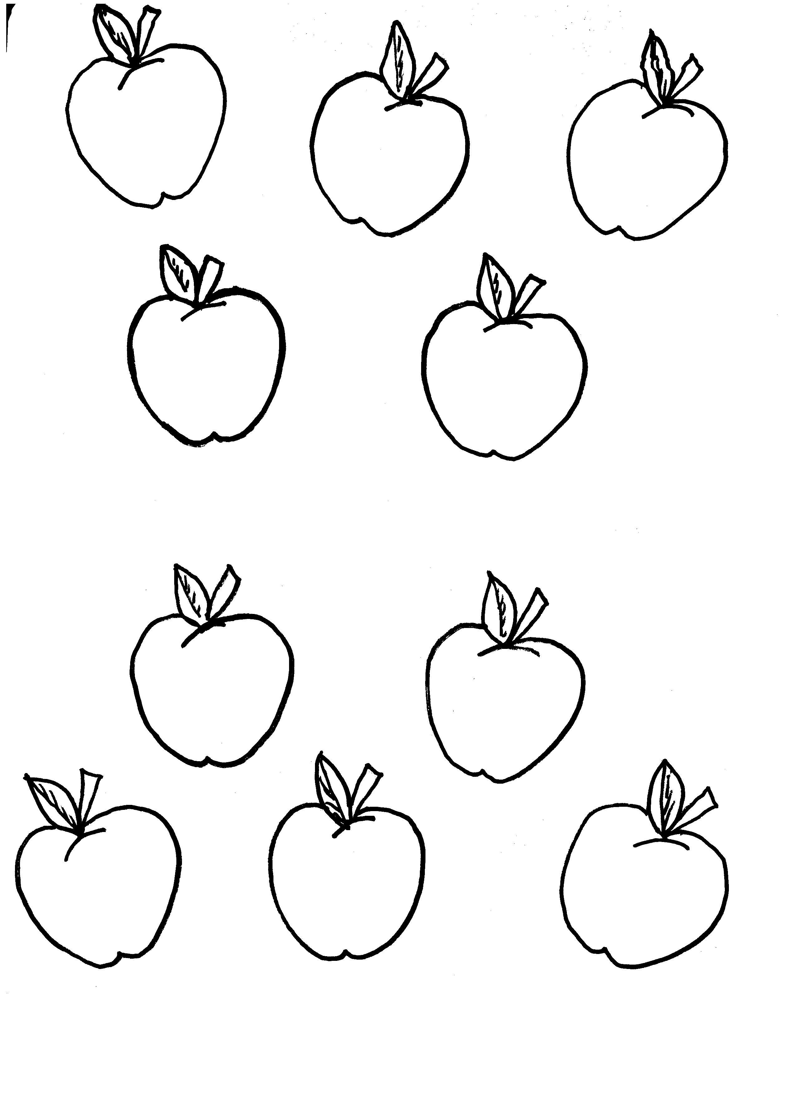 Apple Tree Template For Kids