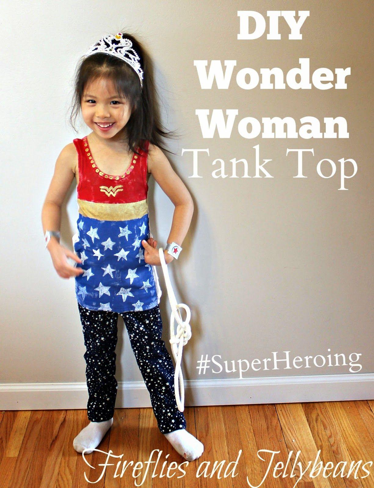 DIY Wonder Women Tank Top (#SuperHeroing) | Best CRAFTS on Pinterest ...