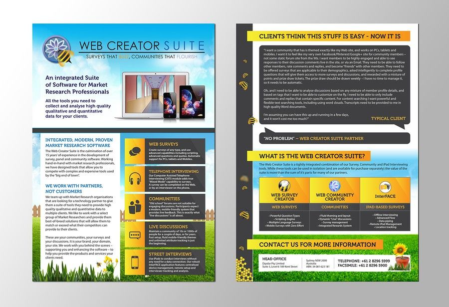 Create A Playful But Professional A Brochure For A Software
