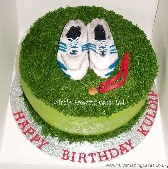 Running Shoe Birthday Cake Cakepins Running Pinterest 30th