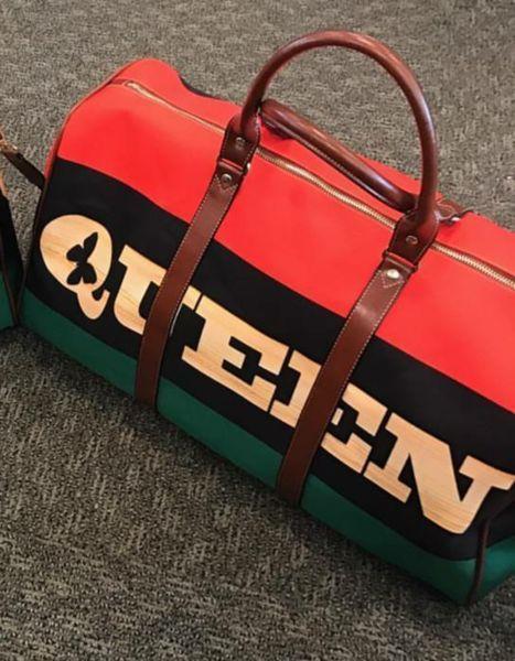Queen RBG flag Waterproof Travel Bag Large  eb6227e8de386