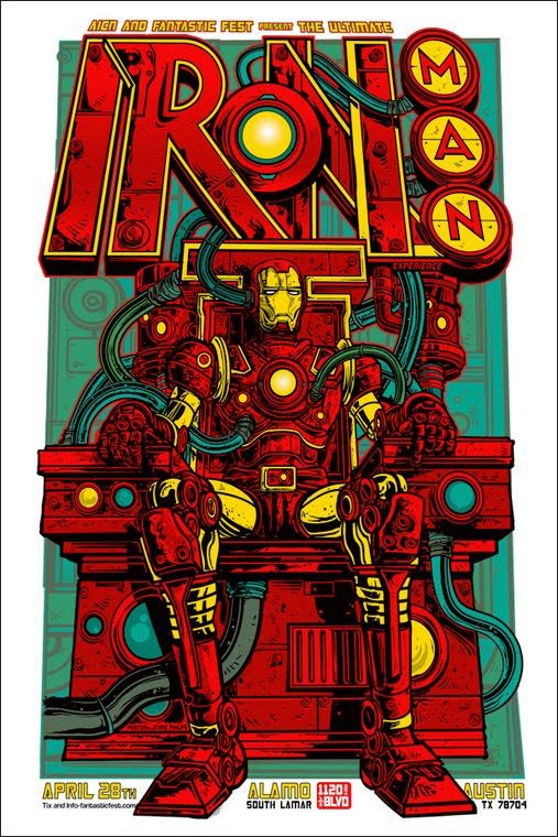 Super Punch: Iron Man posters by Tyler Stout and Mike Saputo ...