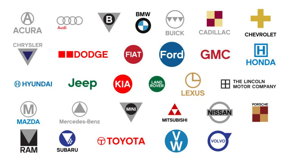 Automotive Logos Simplified With Images Car Logos