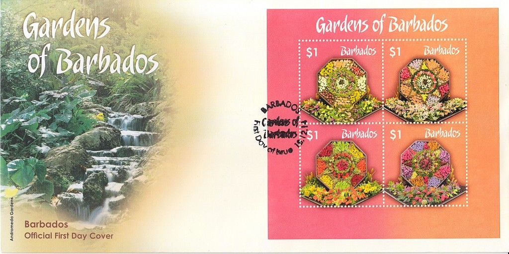 The Gardens of Barbados ~ Mini Sheet First Day Cover