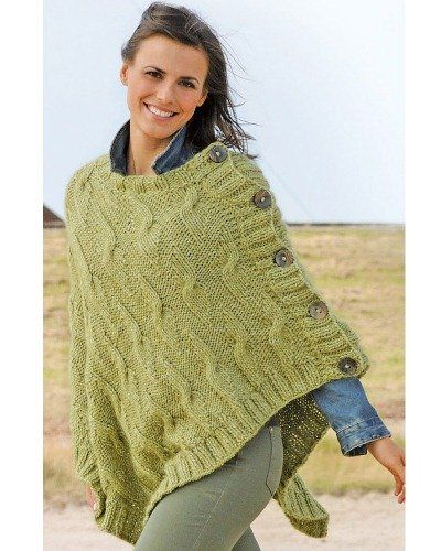 Photo of Strickanleitung Poncho Linie 311 Asparo 3413