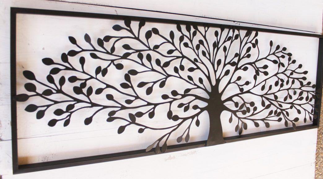 Deco Murale Arbre Metal Decoration Vie En Bois Metallique Mural