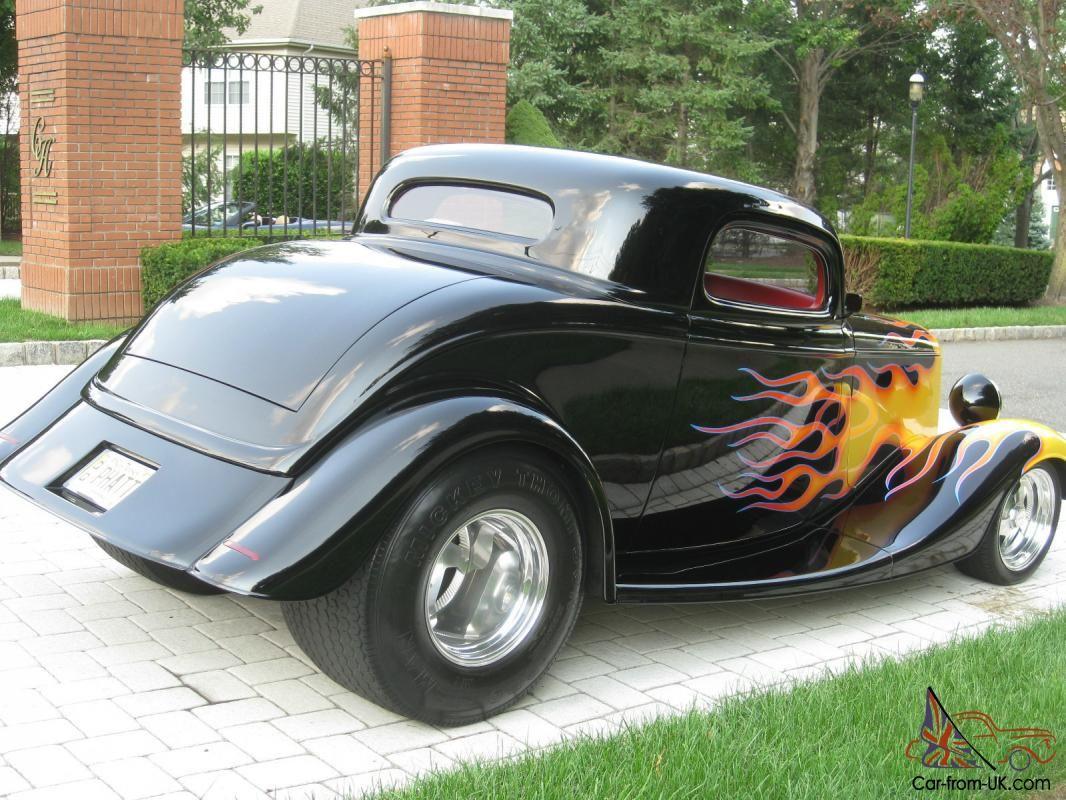 Street Rod Flames | 1933 FORD 3 WINDOW COUPE / STREET ROD/ BLACK ...