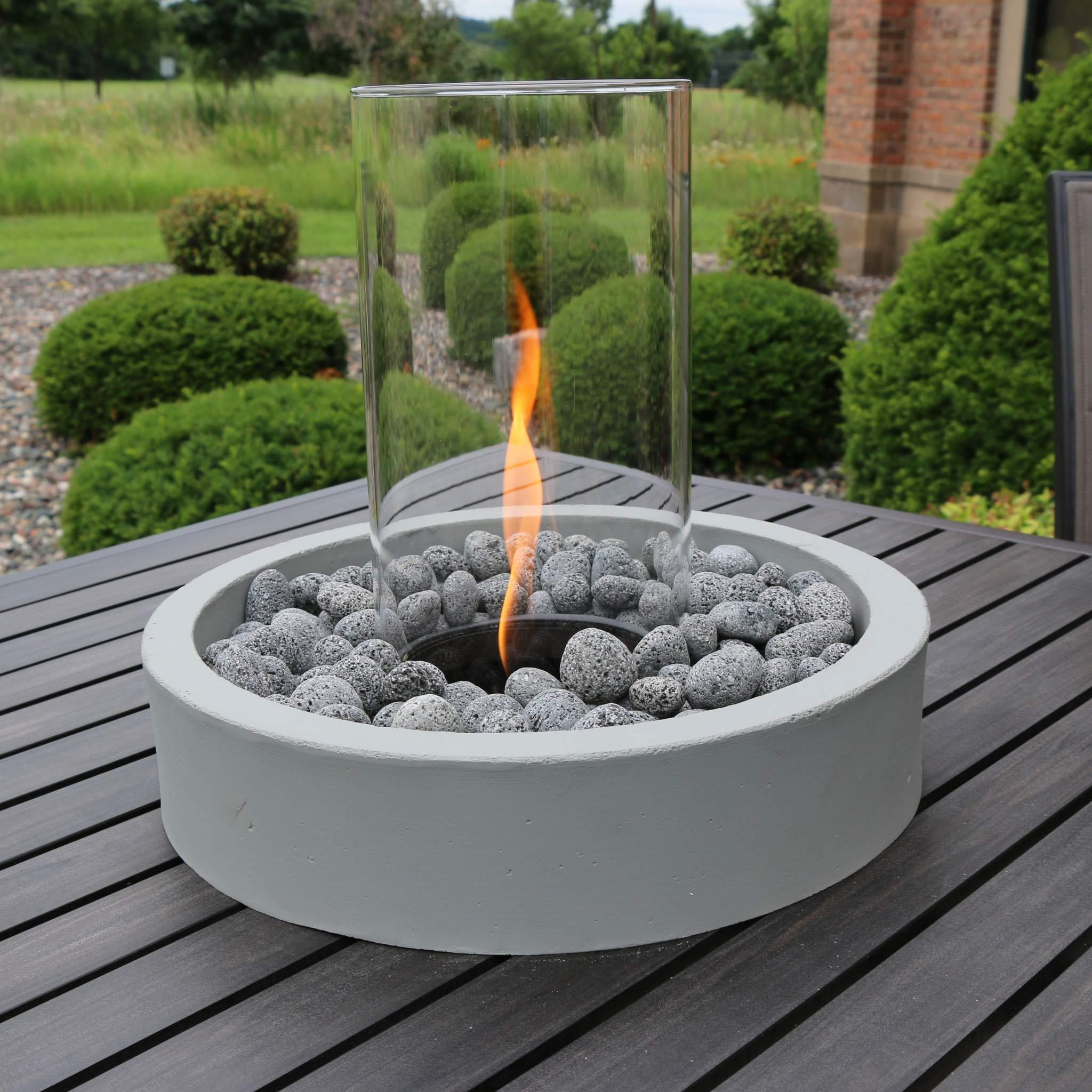 Tumbled Lava Rock 6 Lbs Outdoor Fire Pit Sets Gas Fire Pit Kit