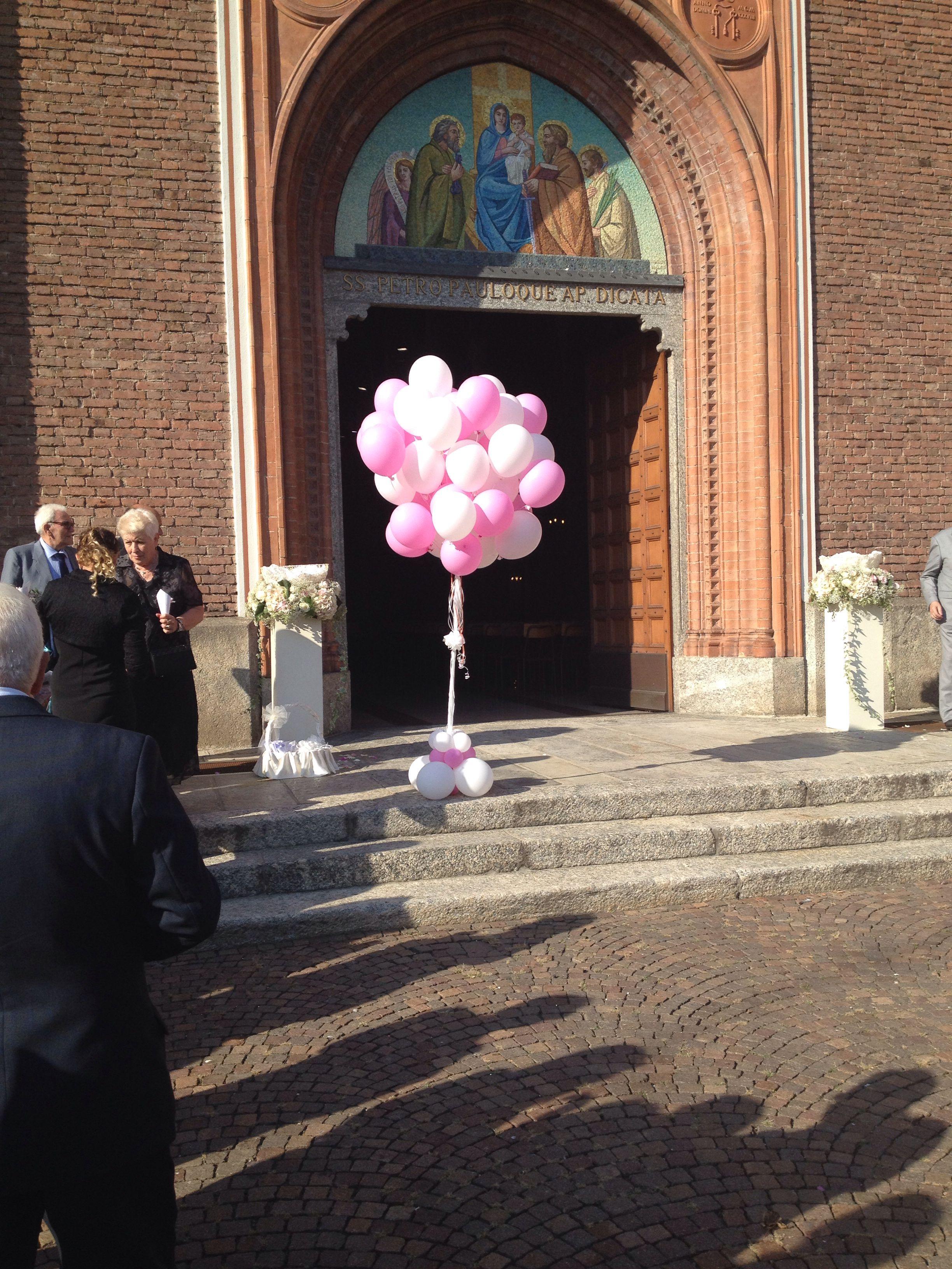 Lancio di palloncini per il matrimonio di Erika e Paolo!Il mulino a vento animazione!!