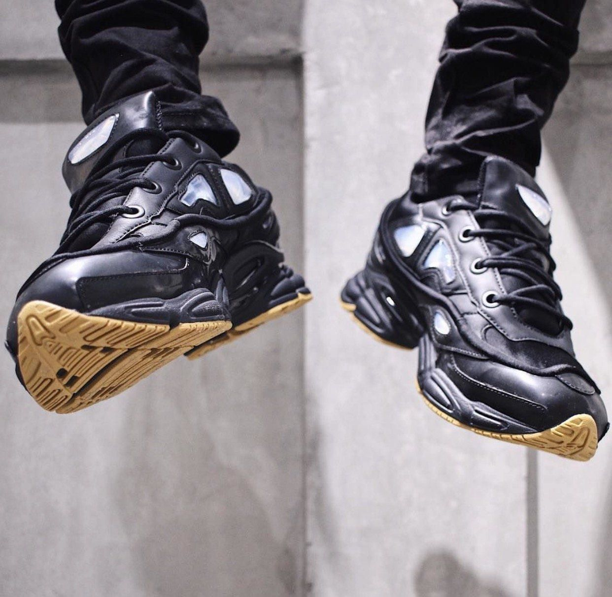 meet 63194 d511e Raf Simons Black adidas Originals Edition Ozweego Bunny Sneakers modern,  performance, sneakers
