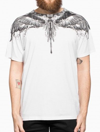Alas agua t-shirt from the F/W2014-15 Marcelo Burlon County of Milan collection in white.