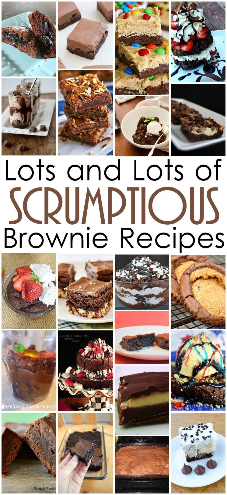 Tons of easy and delicious brownie dessert recipes. All these brownies look so good. even some healthy ones.