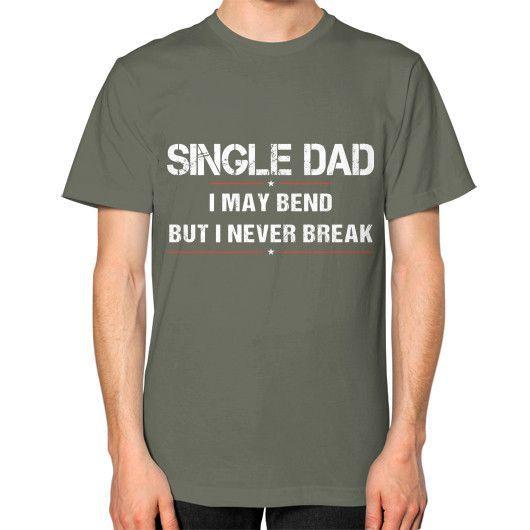 SINGLE DAD Unisex T-Shirt (on man)