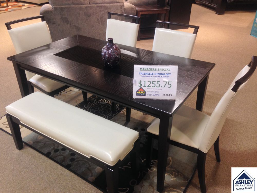 Check Out Our Managers Special Trishelle Dining Set Includes Table Bench 4
