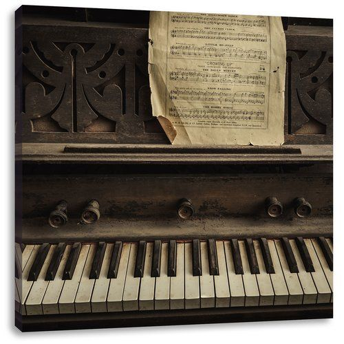 East Urban Home Vintage Piano With Sheet Music Photographic Print