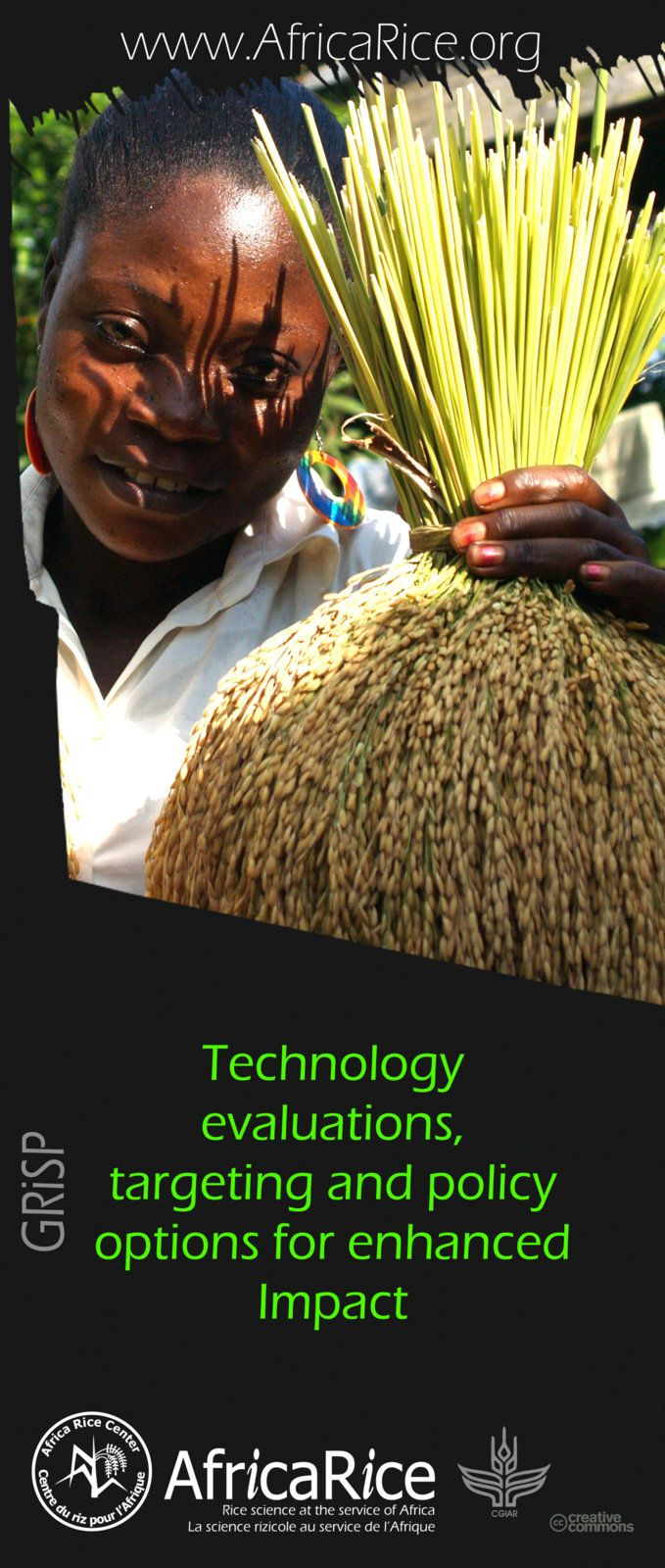 Global Rice Science Partnership (GRiSP) Themes Theme 5: Technology evaluations, targeting and policy options for enhanced Impact Photo, Poster Design : R.Raman, AfricaRice