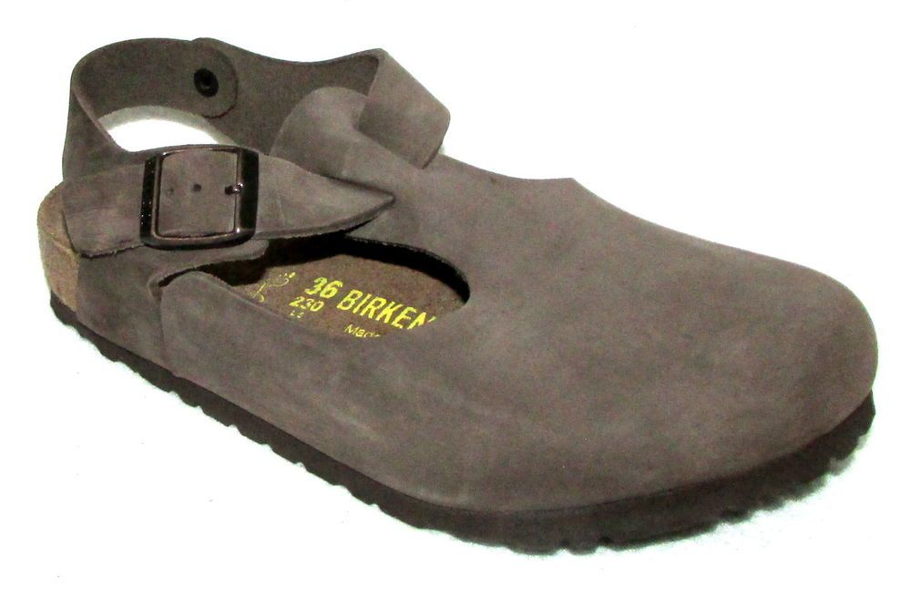 aaa818d674e94 NEW BIRKENSTOCK TOKIO Brown Leather T-Strap Ankle Strap Clogs Womens ...