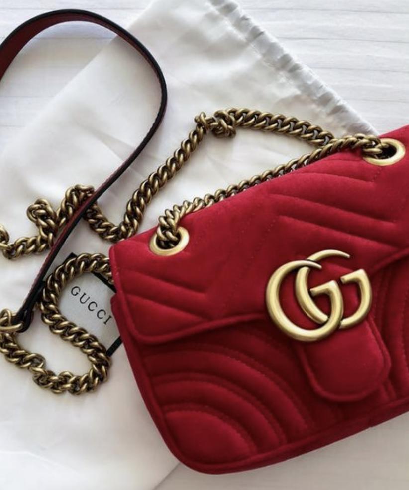 5a99bc71ed91 velvet red gucci marmont crossbody bag   designer luxury handbags #gucci