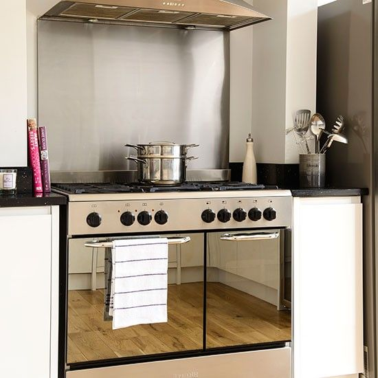 Kitchen With Stainless Steel Range Cooker Decorating Housetohome Co Uk  Mobile.