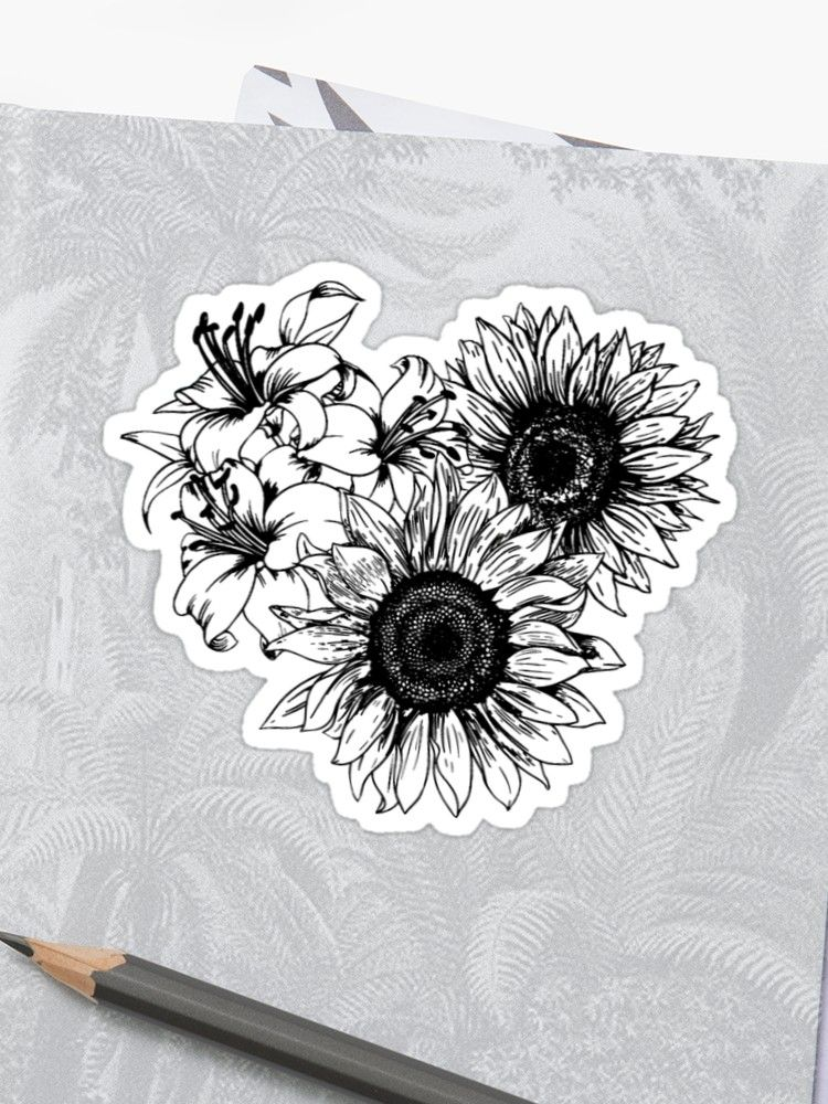 'Sunflowers and Tiger Lilies ' Sticker by Shelby Hough
