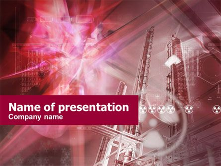 Terrific powerpoint template designed in pale violet red color with terrific powerpoint template designed in pale violet red color with nuclear power station at the background and circle symbol of nuclear energy will be a maxwellsz